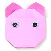 easy origami pig