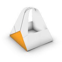 bolsa tradicional origami