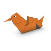 origami pato mandarín para los niños