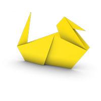 origami pato para los niños