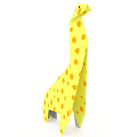 origami jirafa para niños