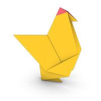origami gallina para niños