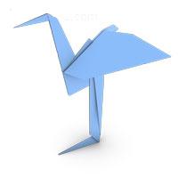 origami garza para los niños