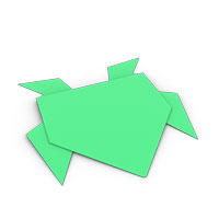 origami jumping-frog for kids