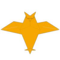 origami búho para los niños