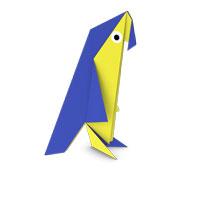 origami loro para los niños