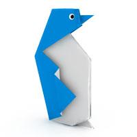 origami pingüino para niños