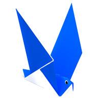 origami paloma para los niños