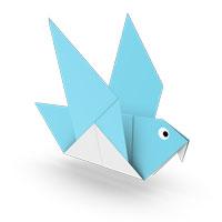 origami paloma II para niños