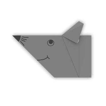 origami rata para los niños