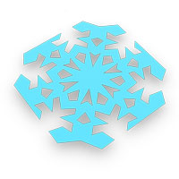 origami copo de nieve para niños