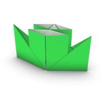origami barco de vapor para los niños