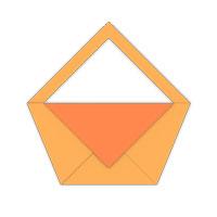 origami tradicional bolsa de asas