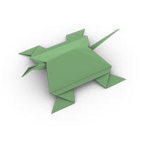 origami tortuga para los niños