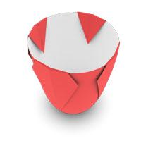 origami florero para niños