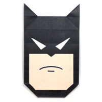 origami batman's face