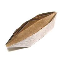 traditional origami sampan boat
