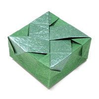 closed origami box