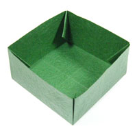 large square origami box