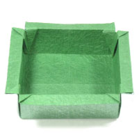 flat open-square origami box
