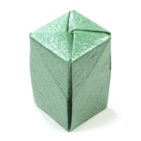 closed tall origami box