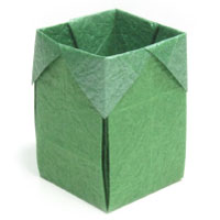 trash origami box