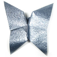 origami butterfly based on open-closed sink-fold