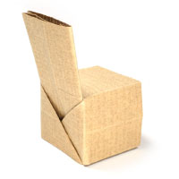 regular origami chair