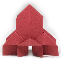 traditional origami church