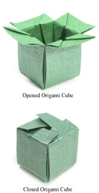 origami closable cube