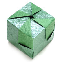 closed paper cube III