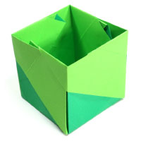 open cube with pattern