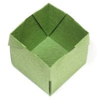 origami open cube