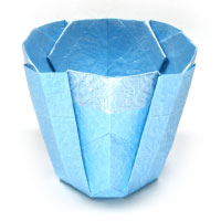 simple 3d origami cup II
