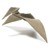 simple origami pterosaur