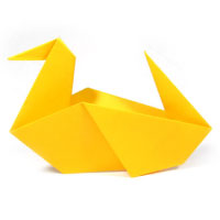 traditional origami duck