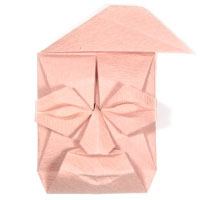 man origami face