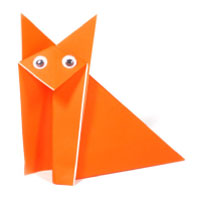 traditional origami fox