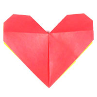 sitting origami heart