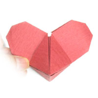 mickey-mouse origami heart