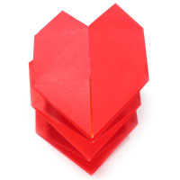 origami heart spring