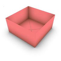 caja tradicional origami