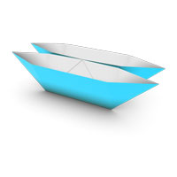 traditional origami catamaran