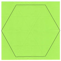 regular hexagon origami paper