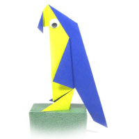 traditional origami parrot