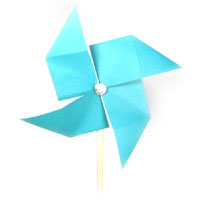 traditional origami pinwheel