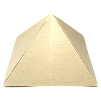 great origami pyramid