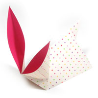 traditional origami rabbit