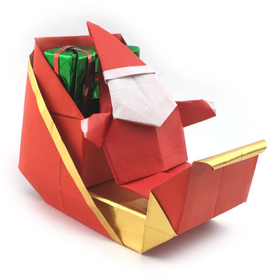 Easy DIY Origami Santa Claus Folding Step by Step - Kids Can Make | 400x400