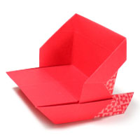 simple origami sleigh